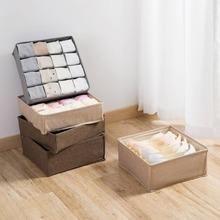 OTHERHOUSE Drawer Closet Organizer Box For Underwear Bra Household Storage Scarfs Socks Bra Organizer Non-woven Storage Case tanie tanio 34*34*10CM Tkaniny