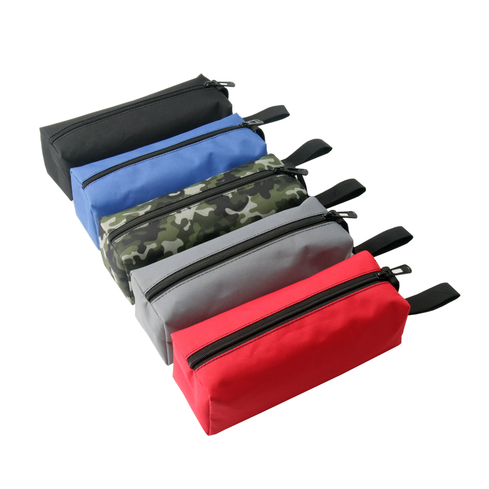 Lightweight Oxford Canvas Tool Bag Zipper Hardware Storage Toolkit Travel Makeup Hand Pouch Up-To-Date Styling Tool Bags