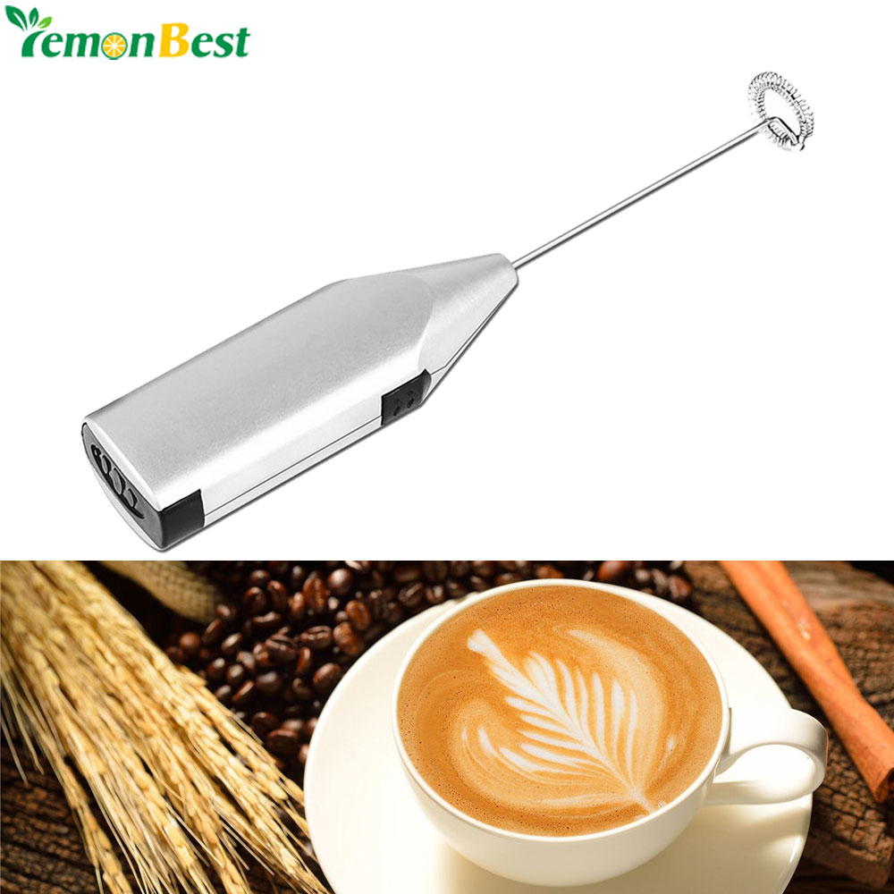 Handheld Stainless Steel Coffee Milk Drink Electric Whisk