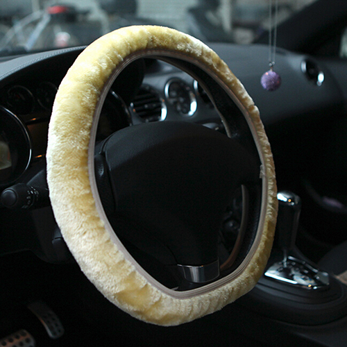 Soft Short Plush Car Steering Wheel Cover Autumn Winter Driver Driving Accessory Store 47