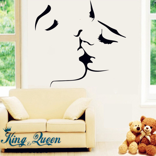 Starting Affectionate Kiss Of Love Wall Art Mural Wall Stickers ...