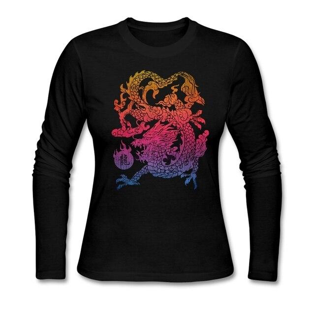 Шикарный Китайский Дракон Есть Закат Старуха Футболка Удобный Хлопок Ткань Классическая Шею дешевые футболки
