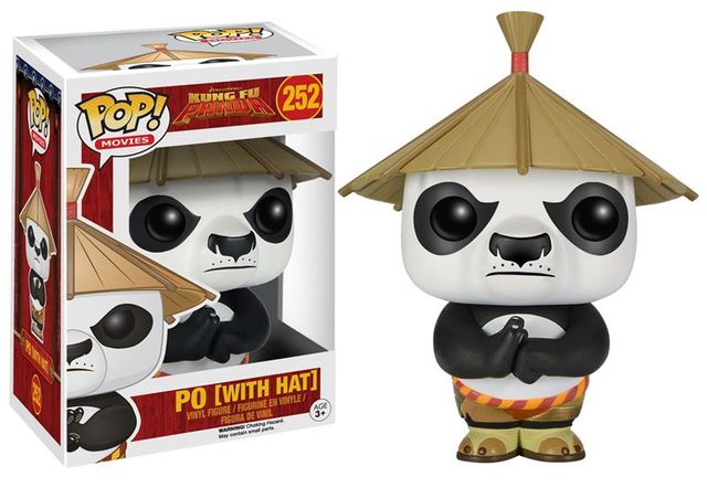 Funko pop Official Kung Fu Panda – Po with Hat Vinyl Action Figure Collectible Model Toy with Original Box
