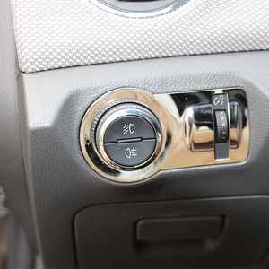 Image 3 - Car styling, decoración para interruptor de luz delantera de acero inoxidable pegatina/embellecedor para Chevrolet Malibu Cruze Trax para Opel Mokka ASTRA J