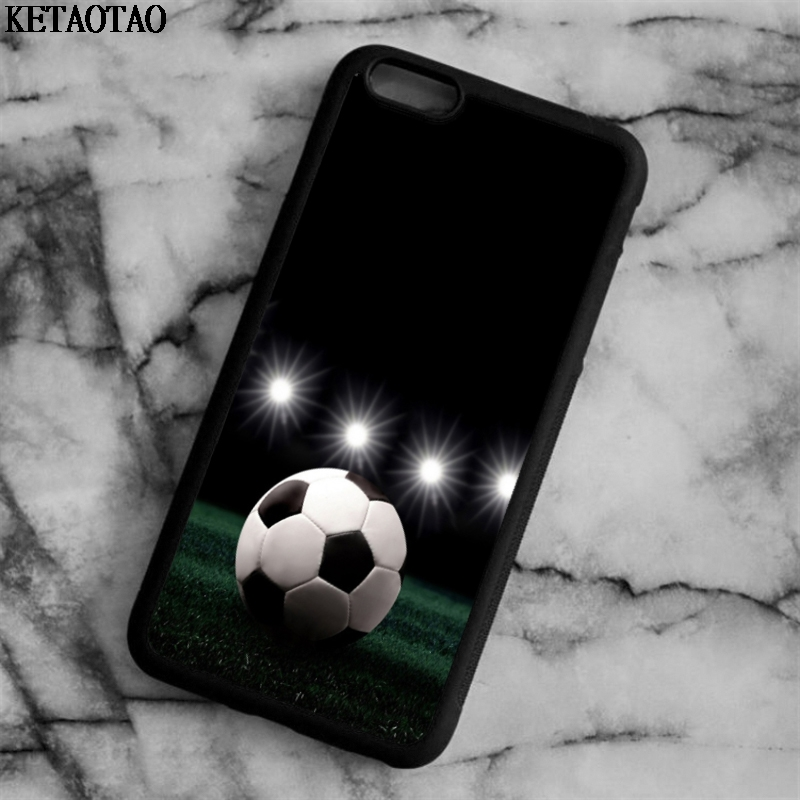 KETAOTAO Star Soccer football Phone Cases for iPhone 4S 5C 5S 6 6S 7 8 Plus X for Samsung S4 5 6 7 Case Soft TPU Rubber Silicone