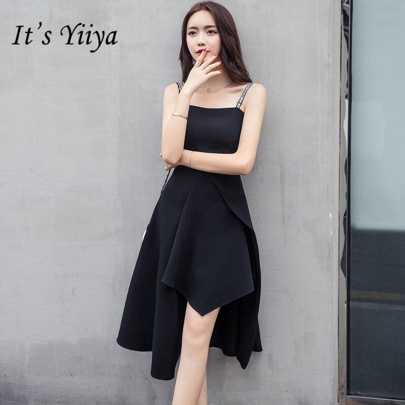 Es Der Yiiya Sexy Spaghetti Strap Prom Kleider Elegante Brief Kleine Schwarze Formale Kleider Lx661 Weddings & Events