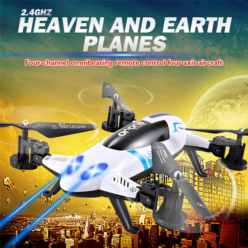 ФОТО Lishitoys L6055 2in1 Land&Sky RC Quadcopter Flying Car 2.4G 4CH 6Axis Helicopter Drone Remote Control Toys VS SY X25 FCI#