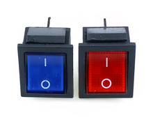 KCD4 1 Pcs Diterangi Besar On-Off 4-Pin Rocker Switch-Biru Merah Kuning Hijau 20A 125VAC 16A 250VAC(China)