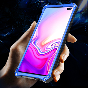 Image 2 - R JUST Armor Aluminum Metal Cover Case for Samsung Galaxy S10 Plus S10 5G s10 plus Gundam Waterproof shockproof Phone Cases