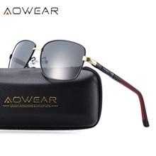 AOWEAR Nueva Llegada Mens gafas de Sol Polarizadas Diseñador de la Marca de Color Película Polarizante UV gafas de sol hombre Gafas de Sol de Conducción de Automóviles