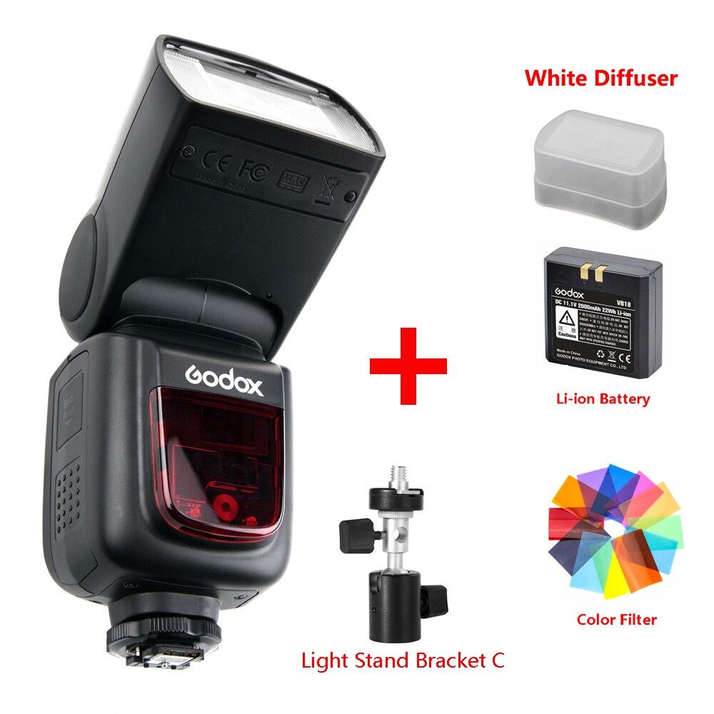 Godox Ving V860 II V860II Speedlite Li-ion Battery Fast HSS Flash For Sony A7 A7S A7R For Nikon Canon For Olympus Fuji