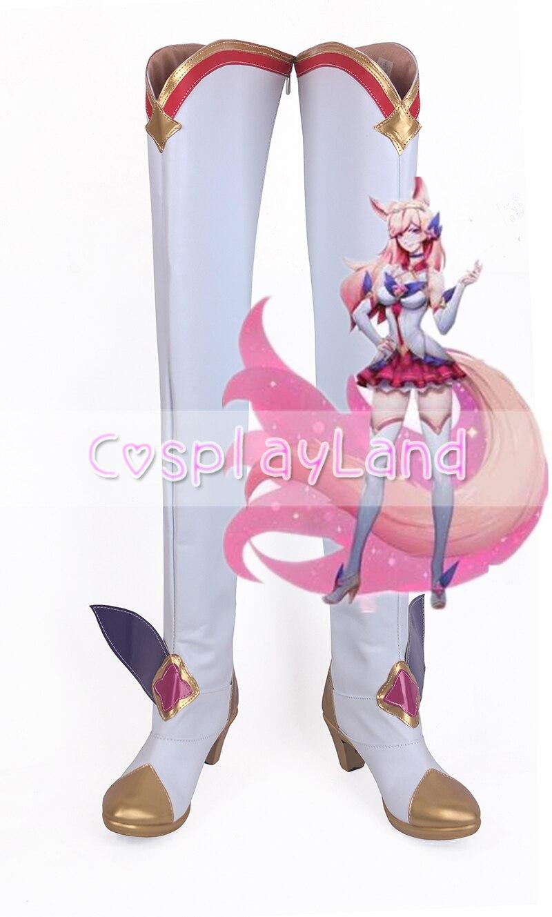 Jeu LOL Ahri Soraka Miss Fortune le chasseur de primes Cosplay chaussures bottes Cosplay Costume accessoires pour femmes chaussures sur mesure