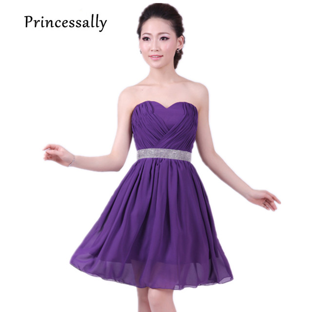 Royal Purple Bridesmaid Dresses Chiffon Maid Of Honor Dress ...