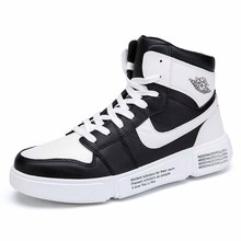 Men's High Quality Vulcanize Shoes High Top Sneakers Non-Slip Increased Breathable Men Punk Platform Rubber Sneakers Custom