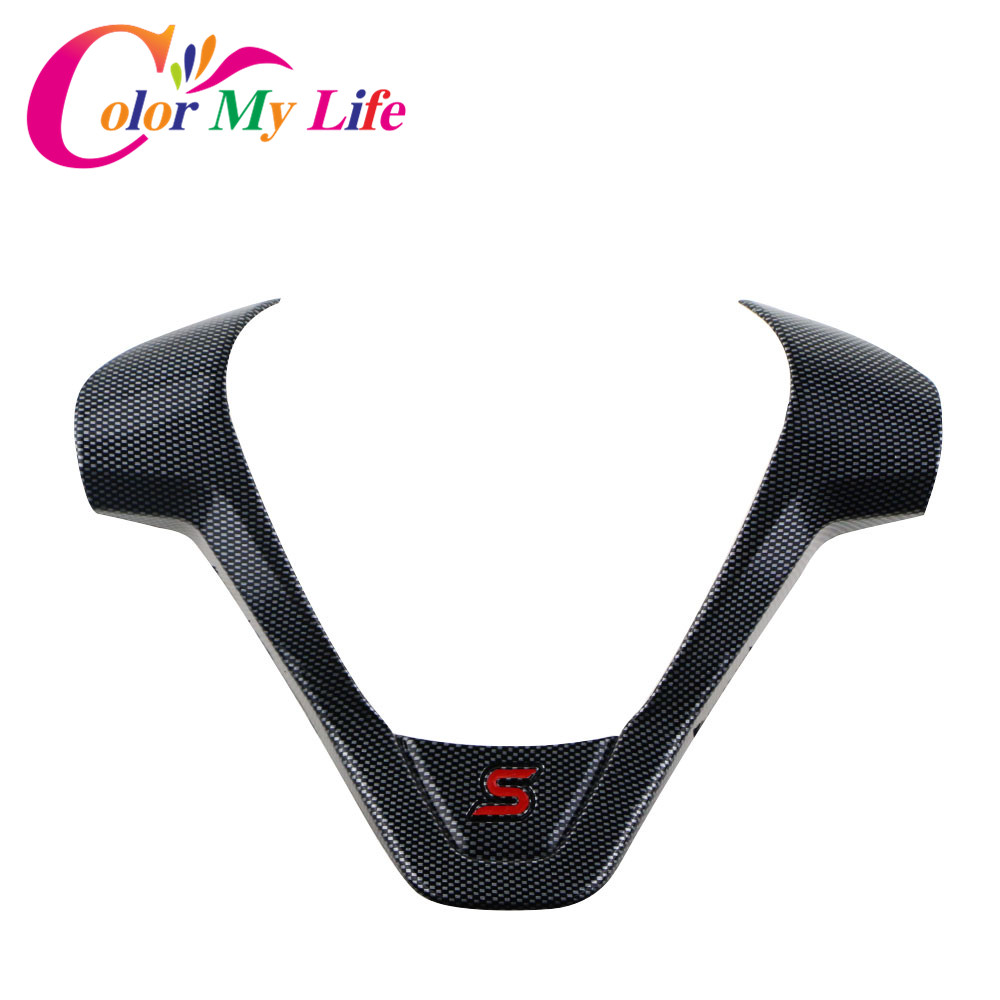 Color My Life ABS Car Steering Wheel Protective Sequin Cover Stickers for Ford New Fiesta Ecosport 2009-2016 Accessories наклейки color my life abs ford ecosport fiesta