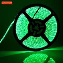 Green LED Strip Light 3528 SMD 5M 600LEDs DC 12V Waterproof Flexible LED Light Strip Tape Lamp Band for Home Decoration Lighting 18w 1200lm 635 700nm 300 smd 3528 led red light car flexible decoration strip dc 12v 500cm