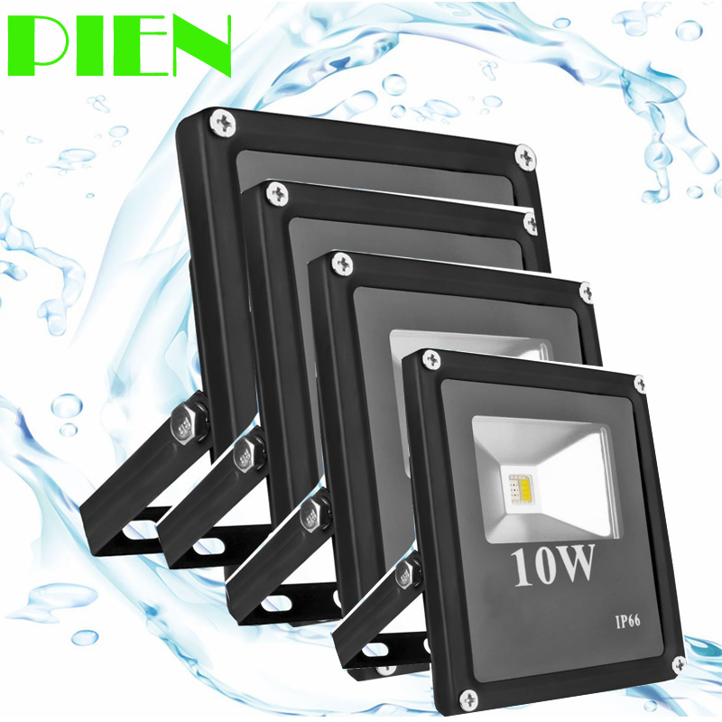 12V LED FLood Light Outdoor 10W 20W 30W 50W 100W projektor Spotlight for gate Hage Vanntett IP66 220V 120V Gratis frakt