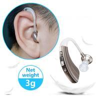 Цифровые слуховые аппараты Звук усилитель голоса Регулируемый за ухо Невидимый Мини слуховой аппарат Портативный для пожилых CCP021