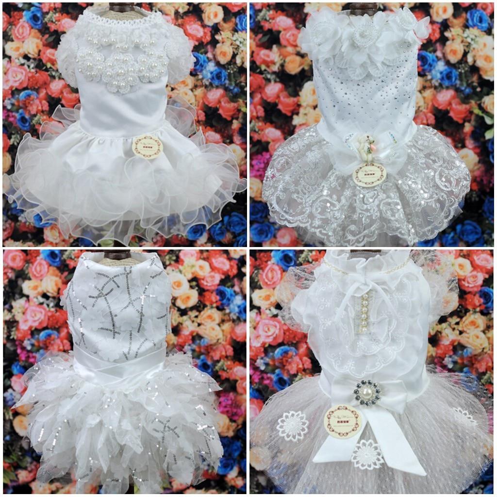 Kostumet e Nuseve Qeni Luksoze Princesha Qeni Qeni Dress Dasma Dress - Produkte për kafshet shtëpiake - Foto 3