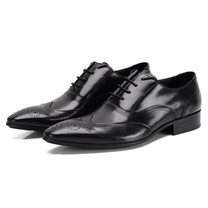 Respirável De Escritório Genuíno Casamento Oxfords Sapatos Negócios Black Moda Vestido Homens Dos Preto Da Trabalho brown marrom Tan Bronzeado Couro XaxqXrg