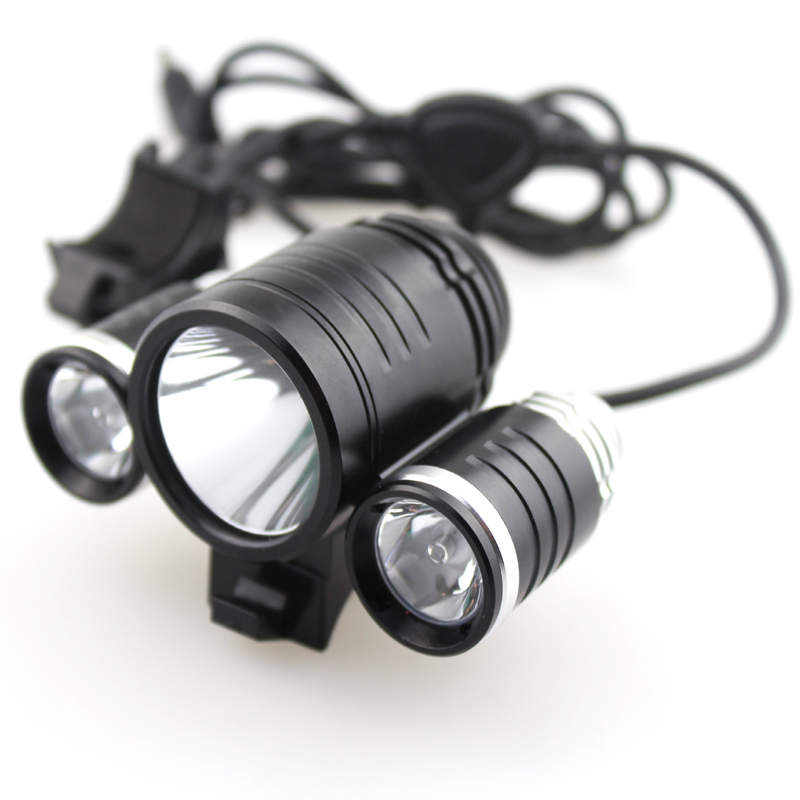 TrustFire D003 1xCREE XML T6 +2x CREE XP-E R2 1800LM 3-Mode LED Bicycle Light with Battery Pack and Charger 5 mode 250 lumen led drop in module w cree xr e r2 wc for wf 502b and flashlights alike 3 6v 8 4v