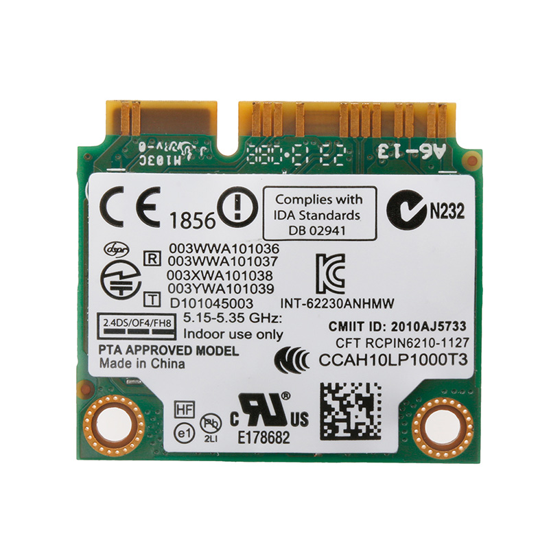 2020 New Wireless Mini Universal Dual Band Intel 6230 62230ANHMW 300 WiFi BT PCI-E Card