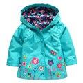 Spring Autumn Fashion Girls Hoodies  Girls Jackets Cartoon Kids Outerwear  Waterproof Children's Coat Dinosaur Coat