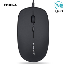 Forka Silent Click Mini USB Wired Computer Mouse Portable Mute Desk Optical Mice for PC Laptop Desktop