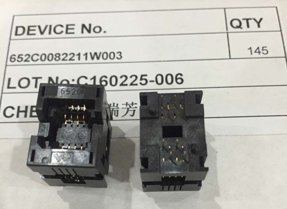 ORIGINAL 652 SOP 1.27mm 8P Socket Dual Contact SOP8 IC Test Socket / Programmer Adapter 652C0082211W003 x 10PCS 10pcs top222gn sop 8