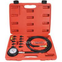 12pcs Engine Oil Pressure Test Kit Tester Car Garage Tool Low Oil Warning Devices