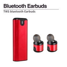 Twins True Wireless 3D Stereo Sport Earbuds Small Invisible Mini Bluetooth Earphones Headset with Charger Box