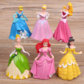 Disney Princess Dream World 2 6 generations snow Belle Cinderella Sleeping Beauty doll ornaments children's toys birthday gift