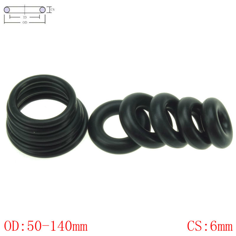 CS 6mm OD50-140mm NBR Rubber O Ring O-Ring Oil Sealing Gasket Automobile SealingCS 6mm OD50-140mm NBR Rubber O Ring O-Ring Oil Sealing Gasket Automobile Sealing