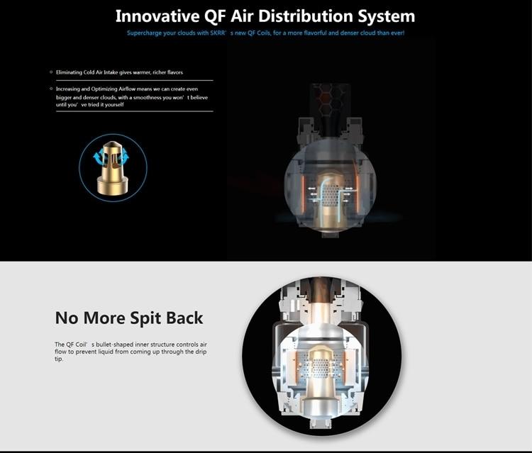 New Original Vaporesso SKRR Vape Tank 82ml Capacity with Quadflow Air Distribution System & QF Strips Coil E-cig Vape Atomizer (2) -