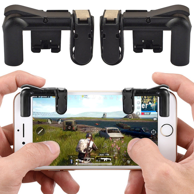 DATA FROG Mobile Gamepad Trigger Game Fire Button Phone Joystick Shoote For PUBG For IPhone 5s 6 7 X For Xiaomi mi 8