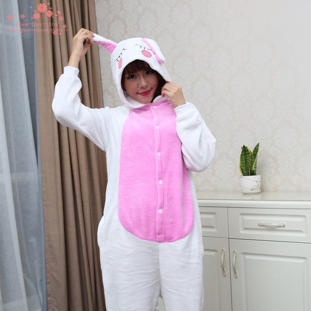ce7f7ef36568d 2016 nouveaux animaux adultes polaires femmes belle mignon lapin blanc  Pyjamas Pyjamas dors Pyjamas sous Onesie