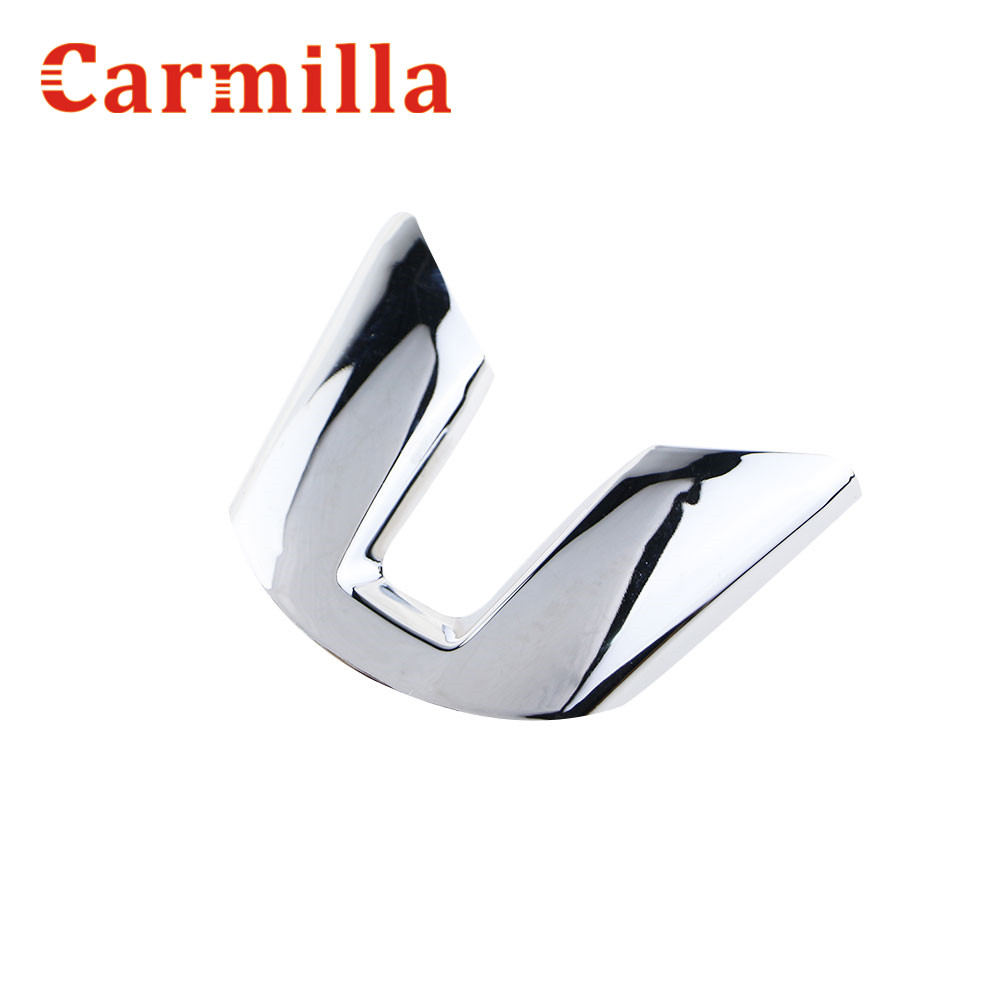 Carmilla ABS Chrome Steering Wheel Sequins Steering Wheel Stickers For KIA Sportage R 2012 2013 2014 2015 Car Styling momo pai car styling steering wheel concave peach wood mahogany competitive racing retro abs universal steering wheel