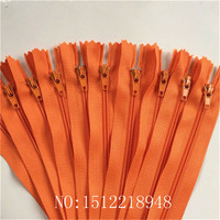 50pcs ( 12 Inch ) 30cm Orange Nylon Coil Zippers Tailor Sewer Craft Crafter's &FGDQRS #3 Closed End