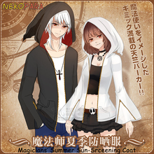 9c8ba43cd276c FFF grupo Anime de los Magos de verano bronceado a prueba de sol-de Trench  Unisex abrigo prendas de Cosplay negro blanco