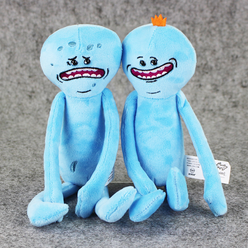 25cm 2 Styles Rick and Morty Plush Happy Sad Meeseeks Soft Stuffed Plush Toys Dolls For Kids Gift Free Shipping image