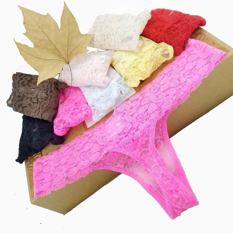 XXL XXXL XXXXXL XXXXXL Big Size Sexy Cozy  Lace Briefs Short G Thongs G-String Lingerie Panties Underwear Women 1pcs Zx104/5