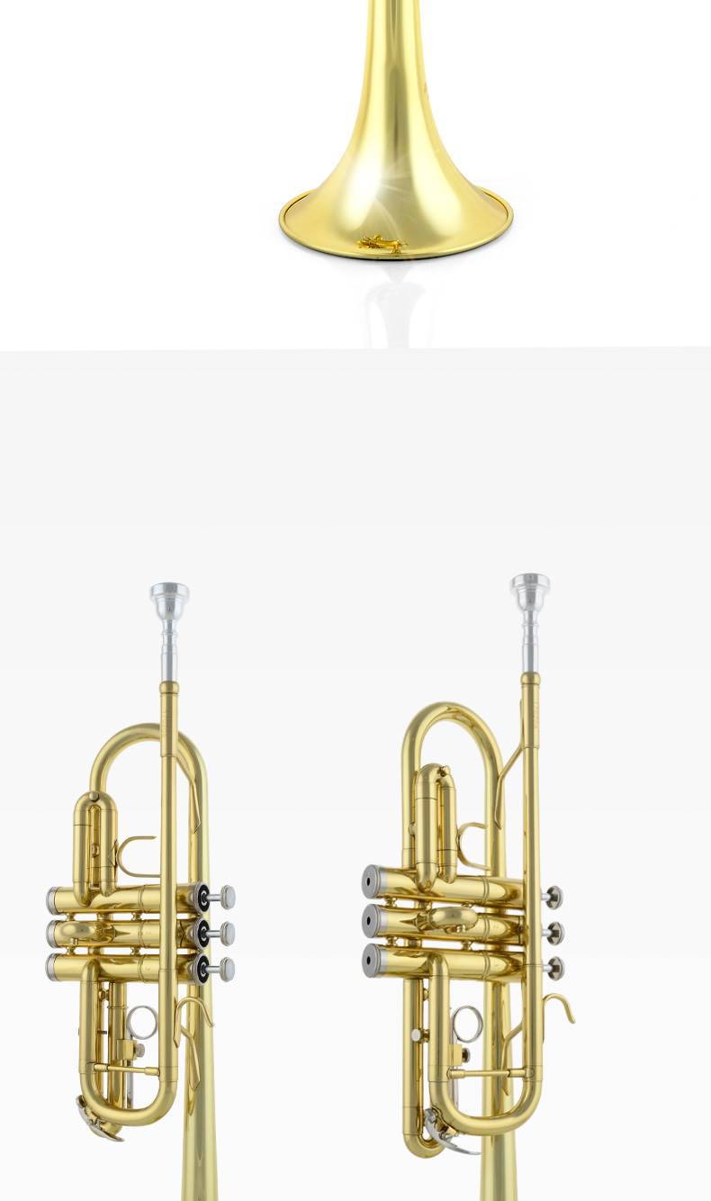 Jazzor Jbtr 700 Professional C Flat Trumpet Advanced High Quality Gold Lacquer With Mouthpiece Case Wind Instruments Trumpet Lacquer Trumpet Ctrumpet Gold Aliexpress