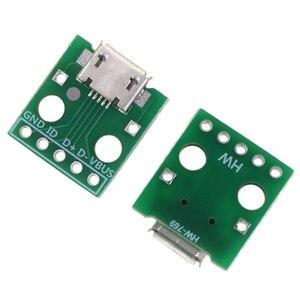 Image 5 - 10 sztuk Micro Usb do adaptera Dip 5Pin złącze żeńskie typu B Pcb konwerter