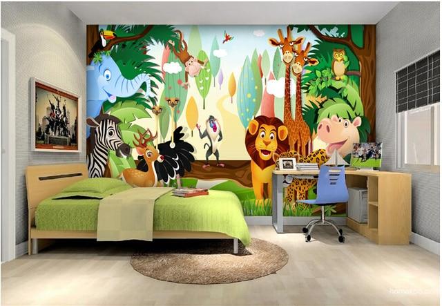 encargo papel de parede infantil forestal de pequeos animales murales para sala de nios de
