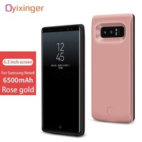 OYIXINGER New Arrivals Portable Power Bank Real 6500mAh Battery Case For Samsung Note 8 Note8 Charger Cases 2A Smart Fast Charge