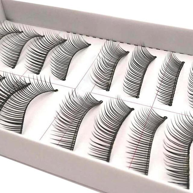 f54fe109cf6 Makeup False Eyelashes 10 Pairs Double False Eyelashes Natural Thick  Crossed Bare Makeup JUL24 Drop shipping