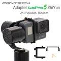 Adaptador gopro hero 5 pgy placa de montagem clipe suporte para z1 zhiyun evolução rider-m cardan esportes acessórios da câmera zangão