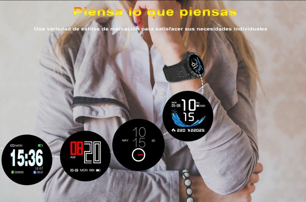 LEMFO T1 Smartwatch IP67 impermeable dispositivo portátil monitorización de  la frecuencia cardíaca reloj inteligente para Android IOS 30 días de