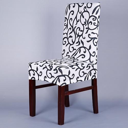 White And Black Chair Covers Luxury Elegant For Modern Dining Room V43