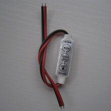 12V Mini 3 Keys Single Color LED Controller Brightness Dimmer for led 3528 5050 strip light  new led strip dimmer 12v dimming pwm controller wall mount led digital display 1 100 range single color strip 12v dimmer